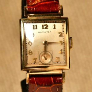 VINTAGE Gents Square HAMILTON Gold Filled Watch